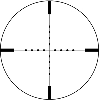 Mildot. Hentet fra http://vortexcanada.net/images/products/riflescopes/reticles/ret_mildot.jpg