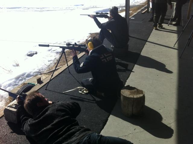 Rifleskytingen.