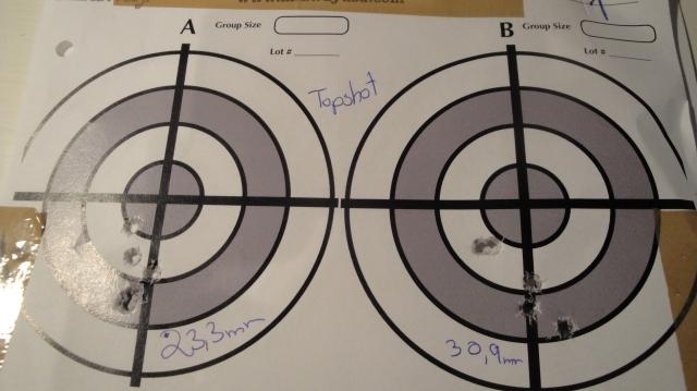 Venstre: 23.3mm. Høyre: 30.9 mm.
