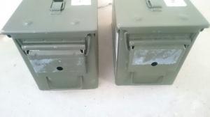 Utgangspunktet er ammokasser som blir brukt av forsvaret.